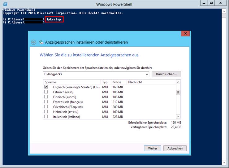 windows server 2012 r2 sprachpaket