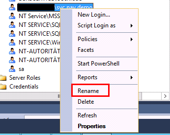 Sql Server Rename Login